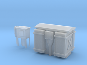 HT Transformer/Substation in Smooth Fine Detail Plastic