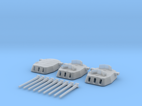 "1/600 16""/45 MKI HMS Nelson Turrets 1940 in Smooth Fine Detail Plastic"