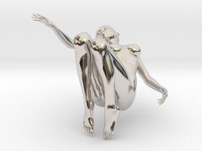 Elegant 3D Girl in Platinum