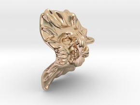 Lion Small Pendant in 14k Rose Gold Plated Brass