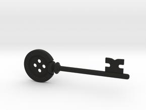 Button Key  (Coraline, 2009) in Black Natural Versatile Plastic
