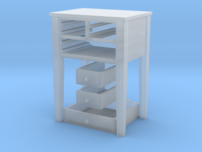 Shaker Table 3 Drawers various scales in Smooth Fine Detail Plastic: 1:24