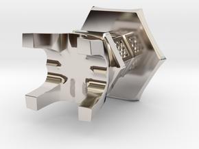 3D Japanese Stone Lantem in Platinum