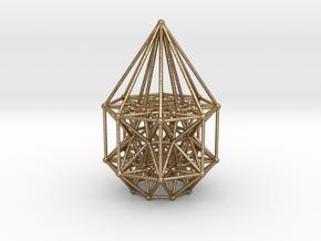 Tesseract Matrix Stargate in Polished Gold Steel