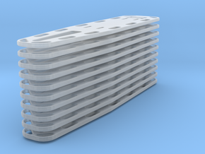 1-48 Spineboards 10 in Smooth Fine Detail Plastic