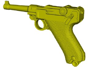 1/10 scale Luger P-08 Parabellum 1908 pistol x 1 in Smooth Fine Detail Plastic