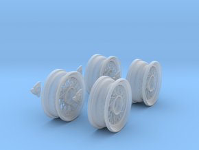 Classic spoke wheels 1/8 1:8 For Classic cars. car in Smooth Fine Detail Plastic