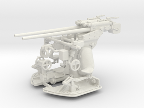1/32 Germany 3.7cm/83 Twin Gun Mounting in White Natural Versatile Plastic