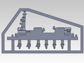 30SJ01b 1:3000 multipart 22DDH Izumo - Details in Smooth Fine Detail Plastic
