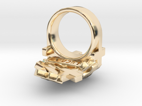 Pile Of Plus Ring in 14k Gold Plated Brass: 9 / 59