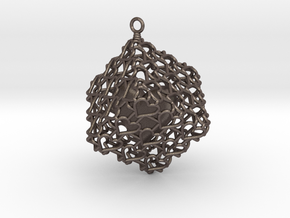 Heartcage in Polished Bronzed Silver Steel