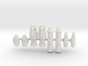 Space Ship Engines 1/270 1/285 in White Strong & Flexible