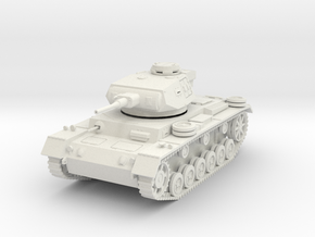 PV163 Pzkw IIIJ Medium Tank (1/48) in White Natural Versatile Plastic