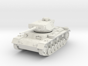 PV164A Pzkw IIIL Medium Tank (28mm) in White Natural Versatile Plastic