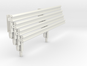 Armco Rail on 2  I-Beam Posts, 4 pcs in White Strong & Flexible