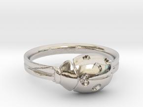 Ladybug Loved Midi Ring in Platinum