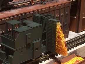 N-scale Door And Guide Car in Smooth Fine Detail Plastic
