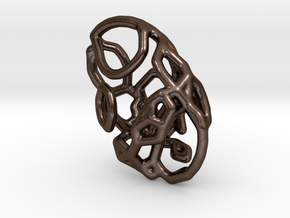 Tangle pendant 2 in Polished Bronze Steel
