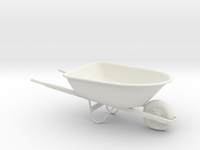 Printle Thing Wheelbarrow - 1/24 in White Natural Versatile Plastic