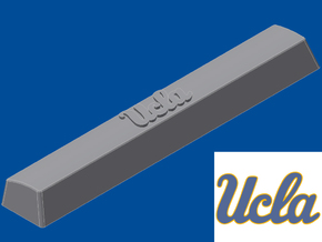 UCLA Spacebar Keycap (6.25x) in White Natural Versatile Plastic