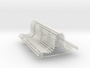 Printle Thing Double Bench 1/24 in White Natural Versatile Plastic