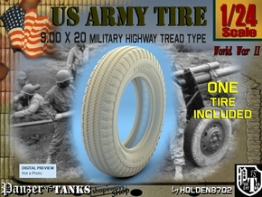 1-24 Tire 9 00x20 in Frosted Ultra Detail
