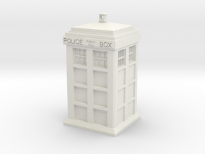 Tardis Pendant in White Strong & Flexible