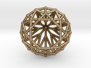 Diamond - Brilliant crystal geometry in Polished Gold Steel