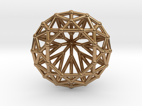 Diamond - Brilliant crystal geometry in Polished Brass