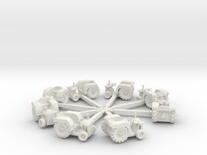 Tractorandsweepsnew in White Strong & Flexible