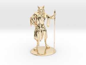 Aslan (Traveller race) Miniature in 14K Yellow Gold: 1:60.96