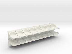 Breadboard Magnet Mount 16 Pack in White Natural Versatile Plastic