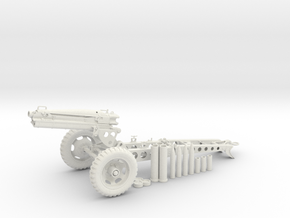 1:16 Pack Howitzer Artillery v7 in White Natural Versatile Plastic