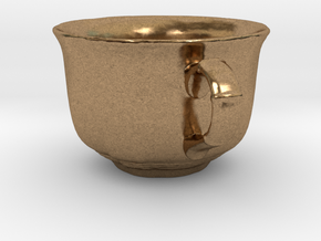 Tea Mug in Natural Brass: Small