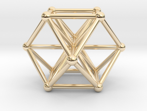 Vector Equilibrium - Cube Octahedron in 14K Yellow Gold