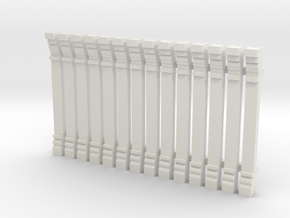 Pilaster, HO scale x 14 in White Natural Versatile Plastic