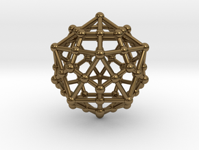 Dodecahedron - Icosahedron in Polished Bronze
