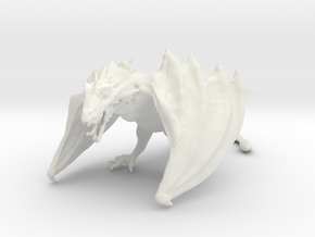 Game Of Thrones Dragon in White Strong & Flexible