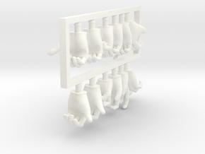 FB01-HandPack-01s 6inch in White Processed Versatile Plastic
