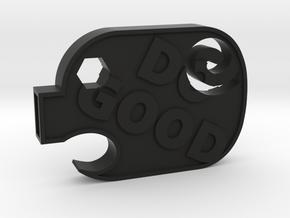 DoGood Pig in Black Natural Versatile Plastic