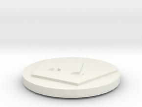 Kingdom Hearts Coin in White Natural Versatile Plastic
