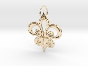 Heraldik Lilie 2 in 14K Gold
