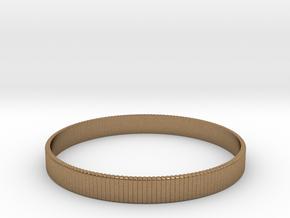 Bracelet Medium B  Ø2.44 inch/Ø62 mm in Natural Brass