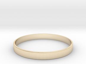 Bracelet Medium B  Ø2.44 inch/Ø62 mm in 14k Gold Plated Brass