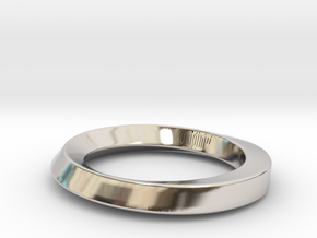 Armreif 2 in Rhodium Plated Brass