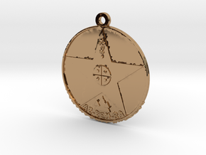 Metatronia Therapy Pendant in Polished Brass