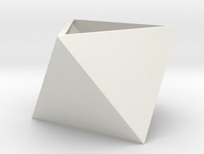 Triangular seedling planter in White Natural Versatile Plastic