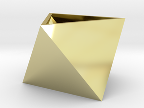 Triangular seedling planter in 18k Gold Plated Brass