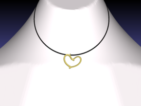 Valentine's in 18k Gold Plated Brass