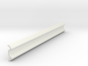 Armco Rail Sample 1, 1/32 Scale in White Natural Versatile Plastic